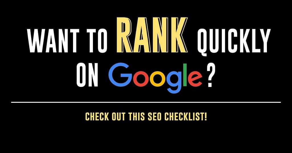 Check out this SEO Checklist